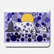 Polar Bear Abstract Art Mousepad
