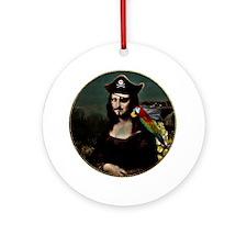 Mona Lisa Pirate Captain Ornament (Round)