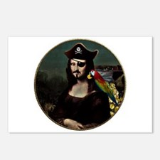 Mona Lisa Pirate Captain Postcards (Package of 8)