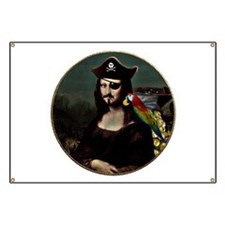 Mona Lisa Pirate Captain Banner
