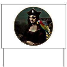 Mona Lisa Pirate Captain Yard Sign