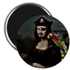 Mona Lisa Pirate Captain Magnet