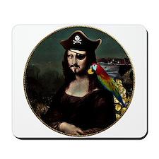 Mona Lisa Pirate Captain Mousepad