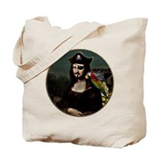Mona Lisa Pirate Captain Tote Bag