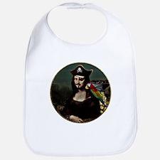 Mona Lisa Pirate Captain Bib