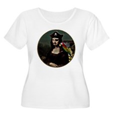 Mona Lisa Pirate Captain Plus Size T-Shirt