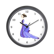 Purple Princess Wall Clock