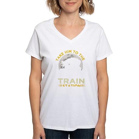 Jesse James Wanted Poster Men's V-Neck T-Shirt