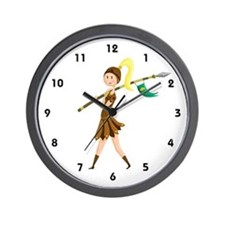 Warrior Princess Wall Clock