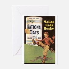 National Oats - Makes Kids Husky Greeting Card
