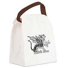 Black Dragon Canvas Lunch Bag