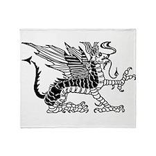 Black Dragon Throw Blanket