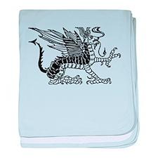 Black Dragon baby blanket