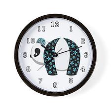 Blue Panda Wall Clock