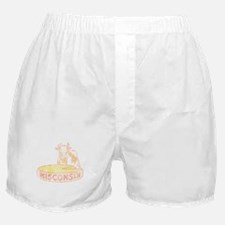 Faded Vintage Wisconsin Cheese Boxer Shorts