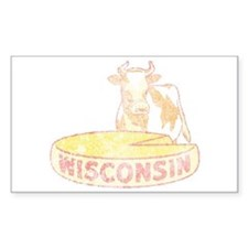 Faded Vintage Wisconsin Cheese Decal
