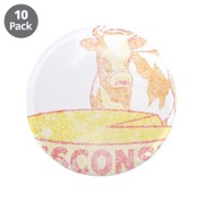 """Faded Vintage Wisconsin Cheese 3.5"""" Button (10 pac"""