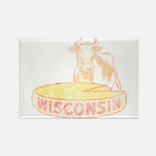 Faded Vintage Wisconsin Cheese Rectangle Magnet