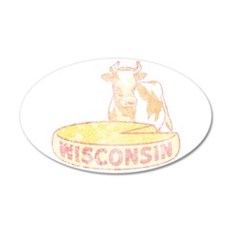 Faded Vintage Wisconsin Cheese Wall Decal