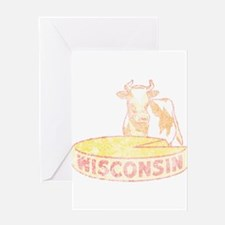 Faded Vintage Wisconsin Cheese Greeting Card