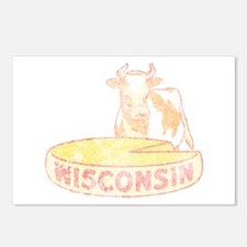 Faded Vintage Wisconsin Cheese Postcards (Package