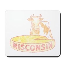 Faded Vintage Wisconsin Cheese Mousepad