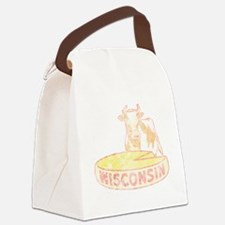 Faded Vintage Wisconsin Cheese Canvas Lunch Bag