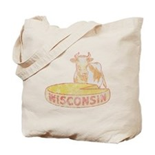 Faded Vintage Wisconsin Cheese Tote Bag