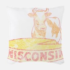 Faded Vintage Wisconsin Cheese Woven Throw Pillow