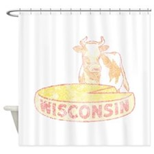 Faded Vintage Wisconsin Cheese Shower Curtain