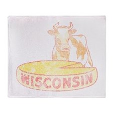 Faded Vintage Wisconsin Cheese Throw Blanket