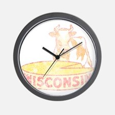 Faded Vintage Wisconsin Cheese Wall Clock