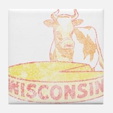 Faded Vintage Wisconsin Cheese Tile Coaster