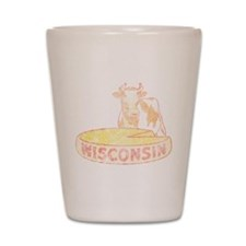 Faded Vintage Wisconsin Cheese Shot Glass
