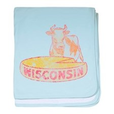 Faded Vintage Wisconsin Cheese baby blanket