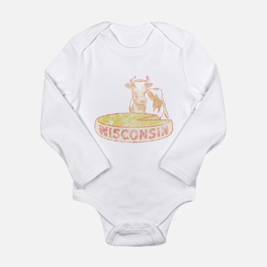 Faded Vintage Wisconsin Cheese Long Sleeve Infant