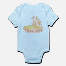Faded Vintage Wisconsin Cheese Infant Bodysuit