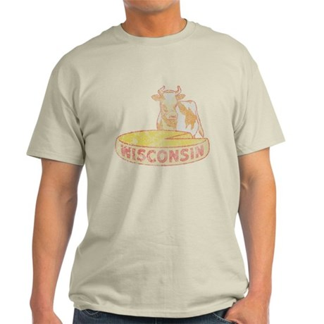 Faded Vintage Wisconsin Cheese Light T-Shirt
