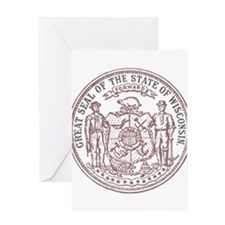 Vintage Wisconsin State Seal Greeting Card