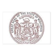 Vintage Wisconsin State Seal Postcards (Package of