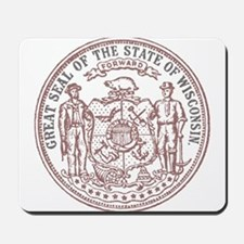 Vintage Wisconsin State Seal Mousepad