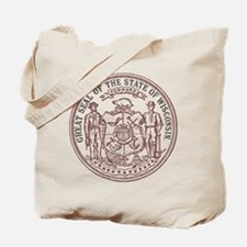 Vintage Wisconsin State Seal Tote Bag