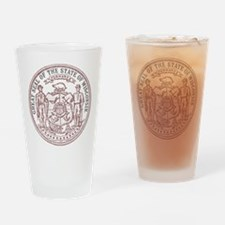 Vintage Wisconsin State Seal Drinking Glass