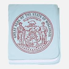 Vintage Wisconsin State Seal baby blanket