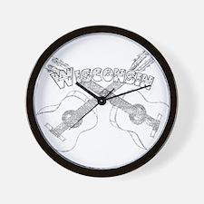 Wisconsin Guitars Wall Clock