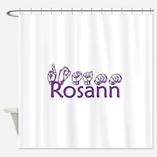 Rosann in ASL Shower Curtain