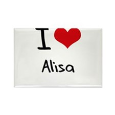 I Love Alisa Rectangle Magnet