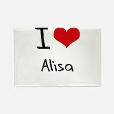 I Love Alisa Rectangle Magnet