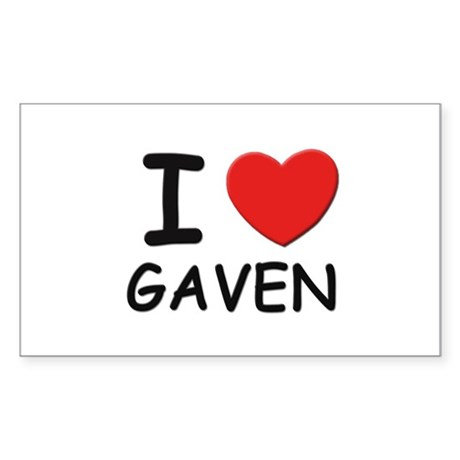 I love Gaven Rectangle Sticker