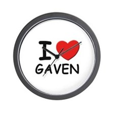 I love Gaven Wall Clock